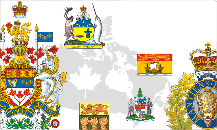 Canadian Flags & Crests / Heraldry of Canada