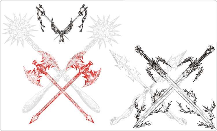 Crossed Blades Clipart
