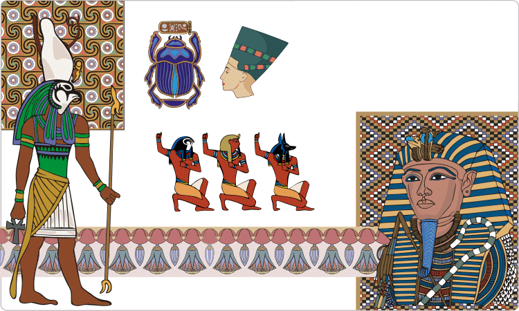Орнаменты и дизайны Древнего Египта