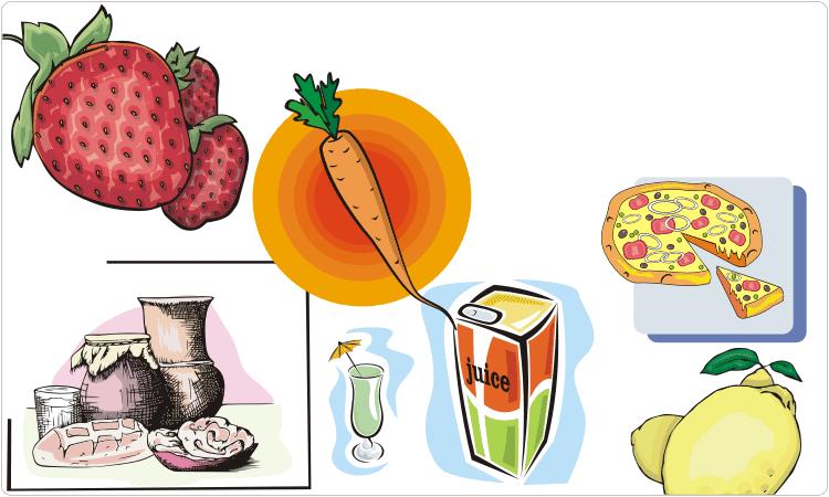 Food Clipart (Fruits, Vegetables, Drinks, etc.)
