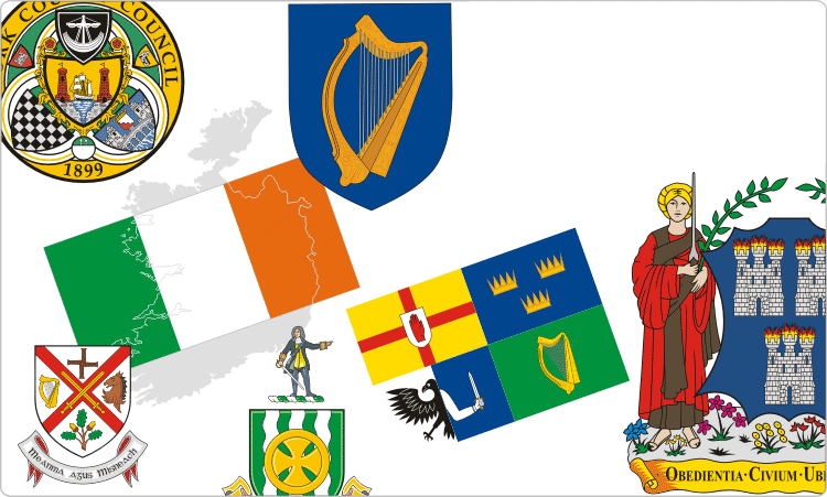 Irish Flags & Crests / Heraldry of Ireland