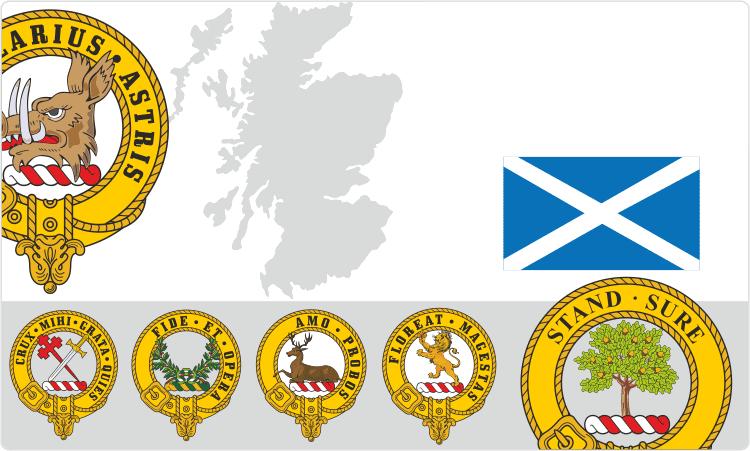 Scottish Clan Crest Badges