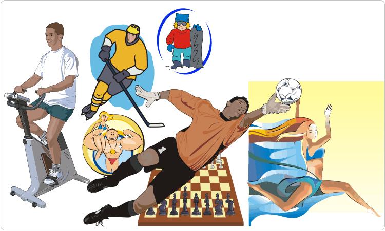 Sport Equipment & Sportsmen Clipart