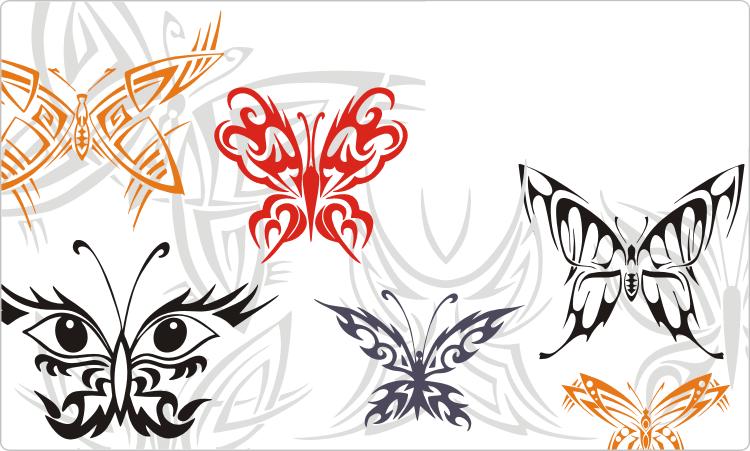 Symmetrical Butterfly Tattoos
