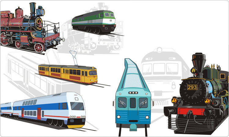 Trains and Trams Clipart