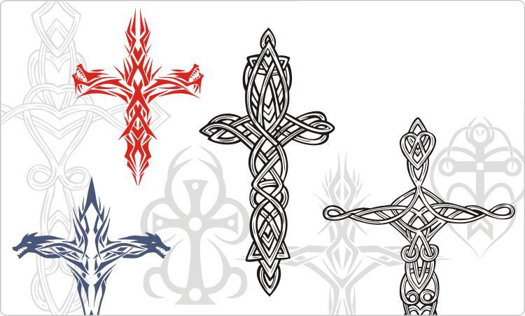 Tribal Cross Tattoos