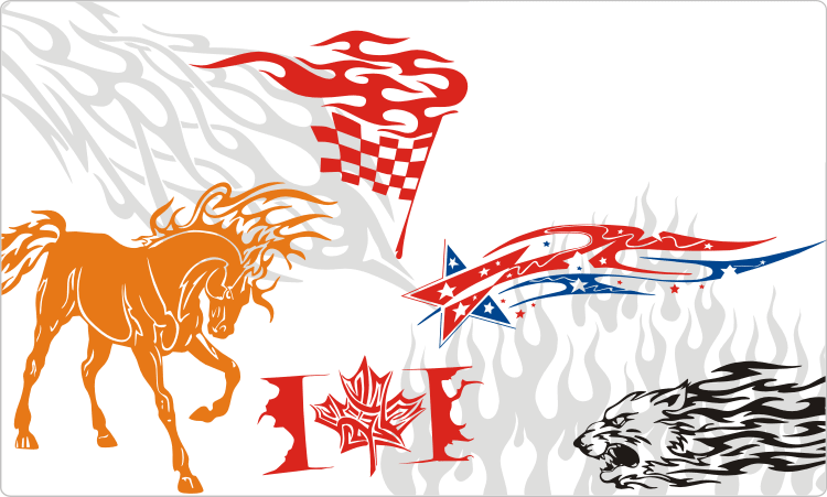 Tribal Flames Clipart