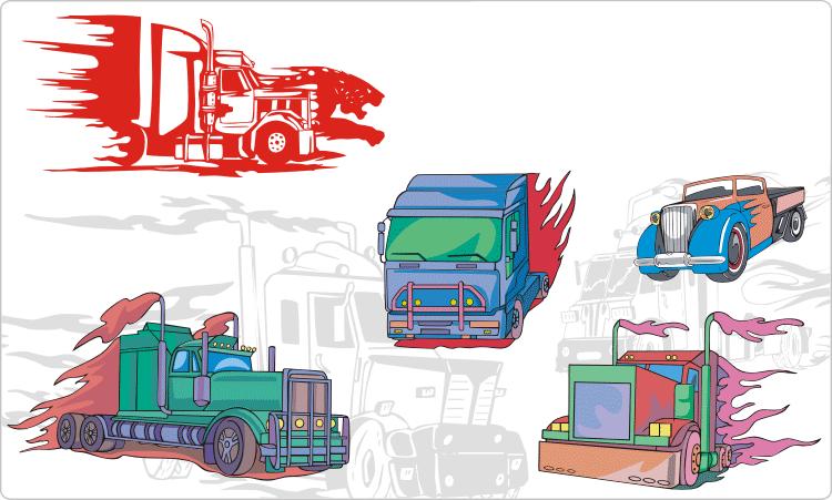 Truck Flames Clipart